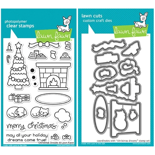 Lawn Fawn SET LF17SETCD CHRISTMAS DREAMS Clear Stamps and Dies Preview Image