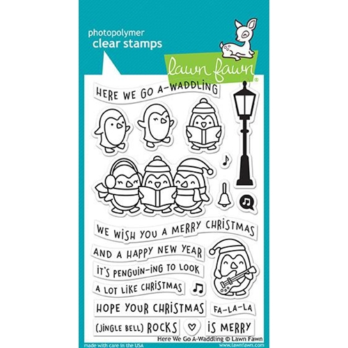 Lawn Fawn HERE WE GO A-WADDLING Clear Stamps LF1468 Preview Image