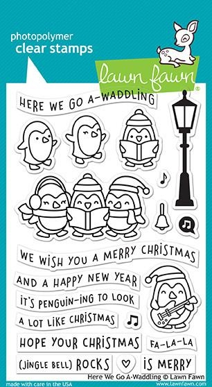 Lawn Fawn Here We Go A-Waddling Clear Stamp Set