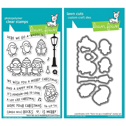 Lawn Fawn SET LF17SETGW HERE WE GO A-WADDLING Clear Stamps and Dies Preview Image
