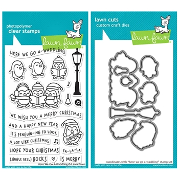 Lawn Fawn SET LF17SETGW HERE WE GO A-WADDLING Clear Stamps and Dies