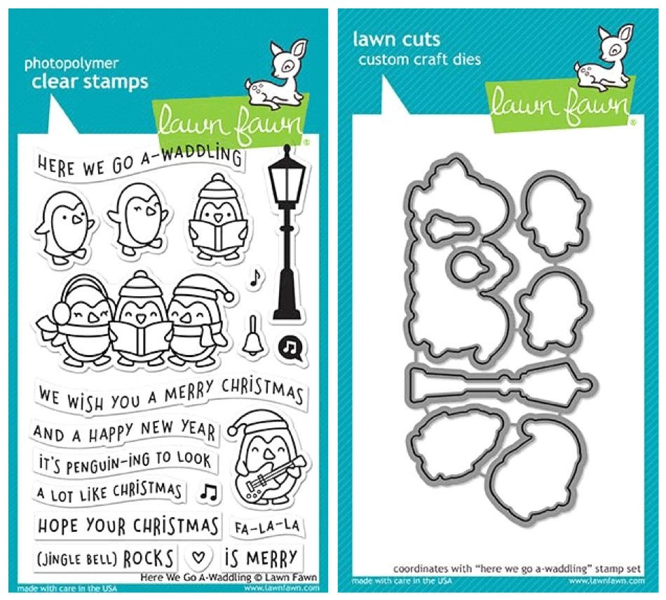 Lawn Fawn SET LF17SETGW HERE WE GO A-WADDLING Clear Stamps and Dies zoom image