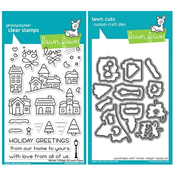 Lawn Fawn SET LF17SETWV WINTER VILLAGE Clear Stamps and Dies*