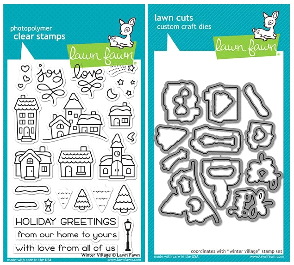 Lawn Fawn SET LF17SETWV WINTER VILLAGE Clear Stamps and Dies zoom image