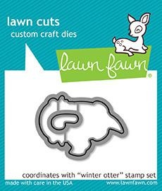 Lawn Fawn WINTER OTTER Lawn Cuts LF1475*
