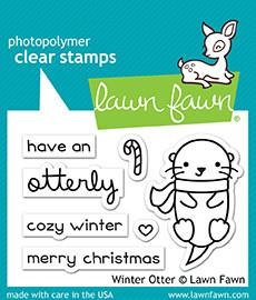 Lawn Fawn WINTER OTTER Clear Stamps LF1474 zoom image