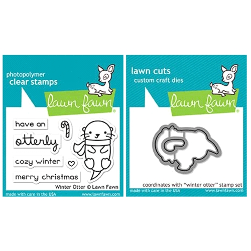 Lawn Fawn SET LF17SETWO WINTER OTTER Clear Stamps and Dies Preview Image