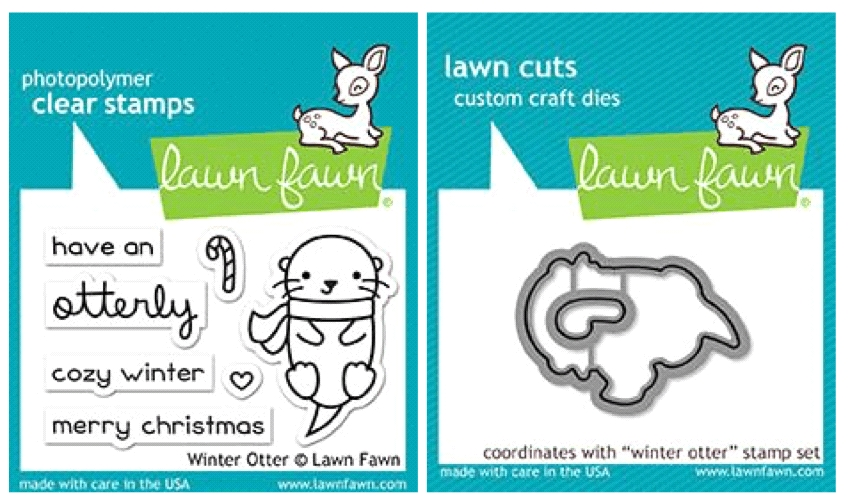 Lawn Fawn SET LF17SETWO WINTER OTTER Clear Stamps and Dies zoom image