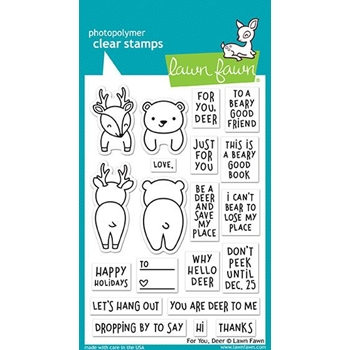 Lawn Fawn FOR YOU DEER Clear Stamps LF1480*
