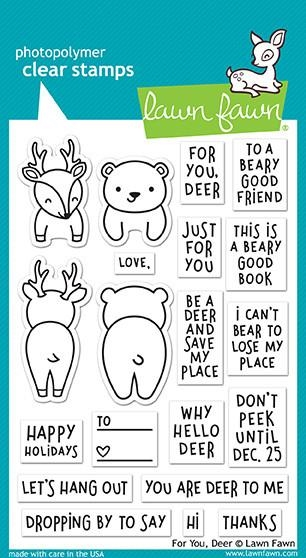 Lawn Fawn FOR YOU DEER Clear Stamps LF1480* zoom image