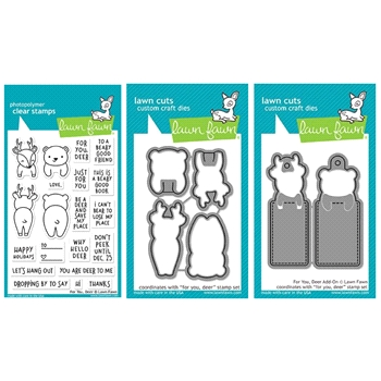 Lawn Fawn SET LF17SETFD FOR YOU DEER Clear Stamps and Dies*