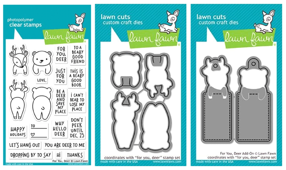 Lawn Fawn SET LF17SETFD FOR YOU DEER Clear Stamps and Dies zoom image