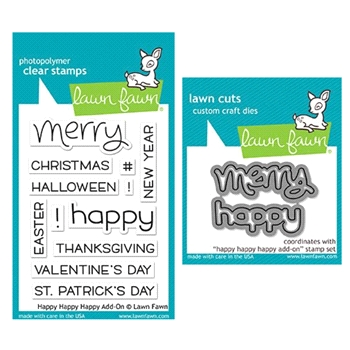 Lawn Fawn SET LF17SETHA HAPPY HAPPY HAPPY ADD-ON Clear Stamps and Dies