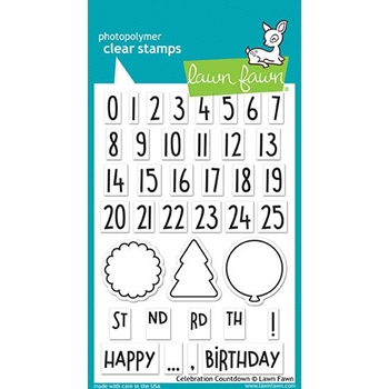 Lawn Fawn CELEBRATION COUNTDOWN Clear Stamps LF1476*