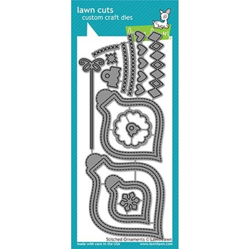Lawn Fawn STITCHED ORNAMENTS Lawn Cuts LF1498