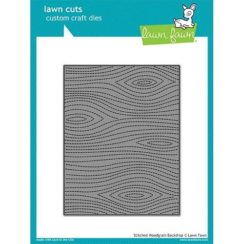 Lawn Fawn STITCHED WOODGRAIN BACKDROP Lawn Cuts LF1501 Preview Image