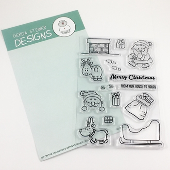 Gerda Steiner Designs UP ON THE HOUSETOP Clear Stamp Set GSD512*