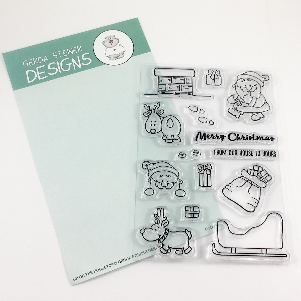 Gerda Steiner Designs UP ON THE HOUSETOP Clear Stamp Set GSD512* zoom image