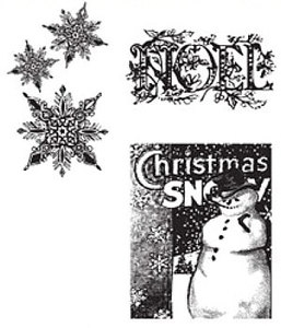 Tim Holtz Cling Rubber Stamps WINTER WONDER CMS033