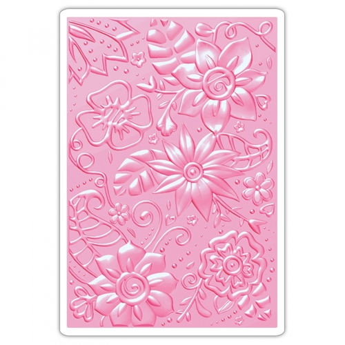 Sizzix BOHEMIAN BOTANICALS 3D Embossing Folder 661948 Preview Image