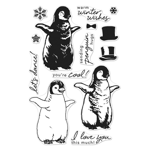 Hero Arts Clear Stamps Color Layering BABY PENGUIN CM188* Preview Image