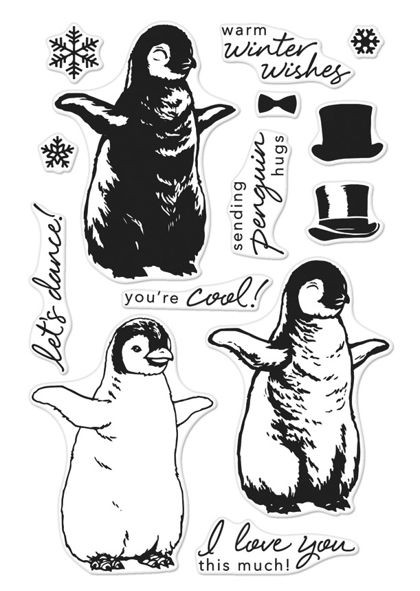 Hero Arts Clear Stamps Color Layering BABY PENGUIN CM188* zoom image