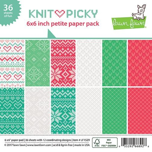 Lawn Fawn KNIT PICKY 6x6 Inch Petite Paper Pack LF1529 Preview Image