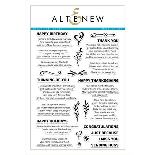 Altenew BEAUTIFUL INSIDE Clear Stamp Set ALT1760 Preview Image