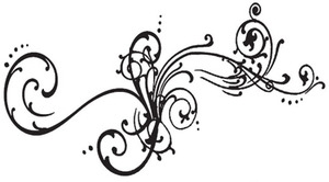 Tim Holtz Rubber Stamp FLOURISHED Scroll Stampers Anonymous V2-1262 Preview Image