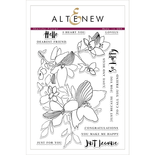 Altenew SKETCHY FLORAL Clear Stamp Set ALT1759 Preview Image
