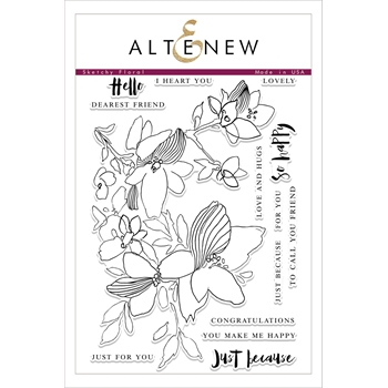 Altenew SKETCHY FLORAL Clear Stamp Set ALT1759