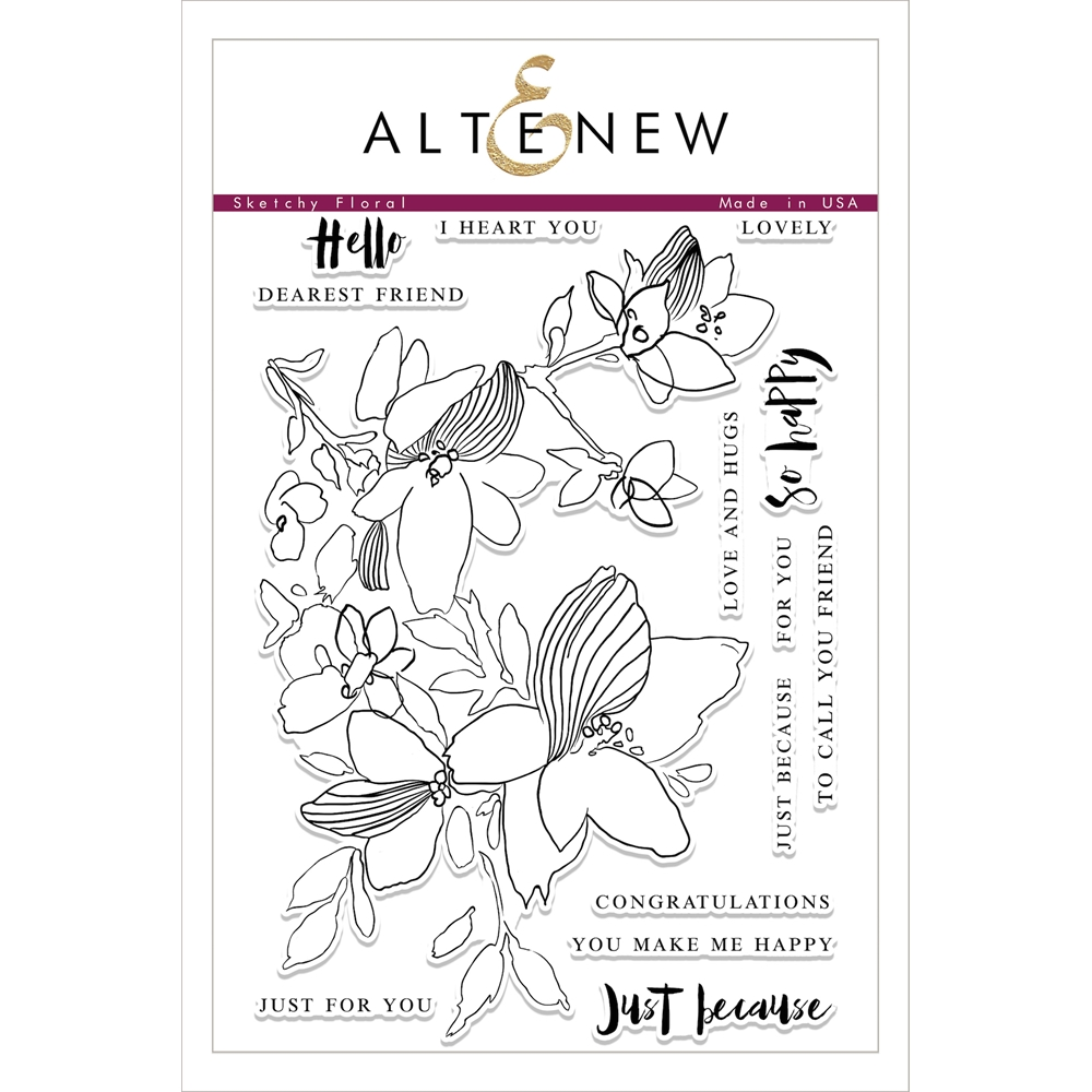 Altenew SKETCHY FLORAL Clear Stamp Set ALT1759 zoom image