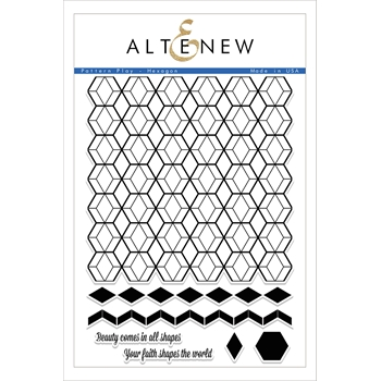 Altenew PATTERN PLAY HEXAGON Clear Stamp Set ALT1699