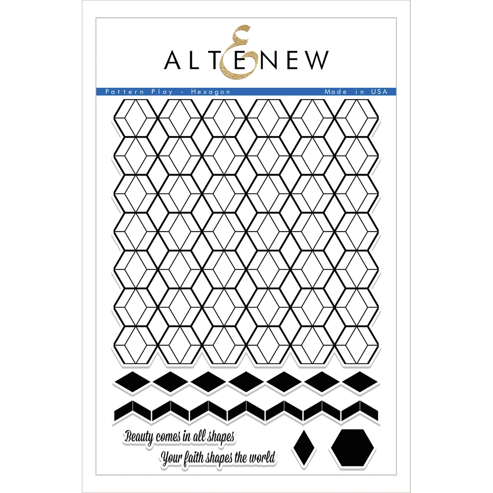 Altenew PATTERN PLAY HEXAGON Clear Stamp Set ALT1699 zoom image