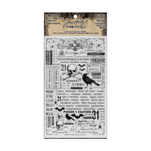 Tim Holtz Idea-ology HALLOWEEN Remnant Rubs TH93604 Preview Image