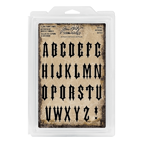 Tim Holtz Idea-ology GOTHIC Cling Foam Stamps TH93618 Preview Image