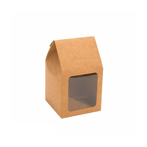 Clear Bags KRAFT GABLE WINDOW BOX 3.5 x 3.5 x 6.5 Inches Pack of 12 FS320* Preview Image