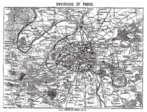 Tim Holtz Rubber Stamp PARIS MAP France Stampers Anonymous x1-1109