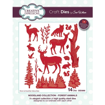 Creative Expressions FOREST ANIMALS Sue Wilson Woodland Collection Die Set CED3095