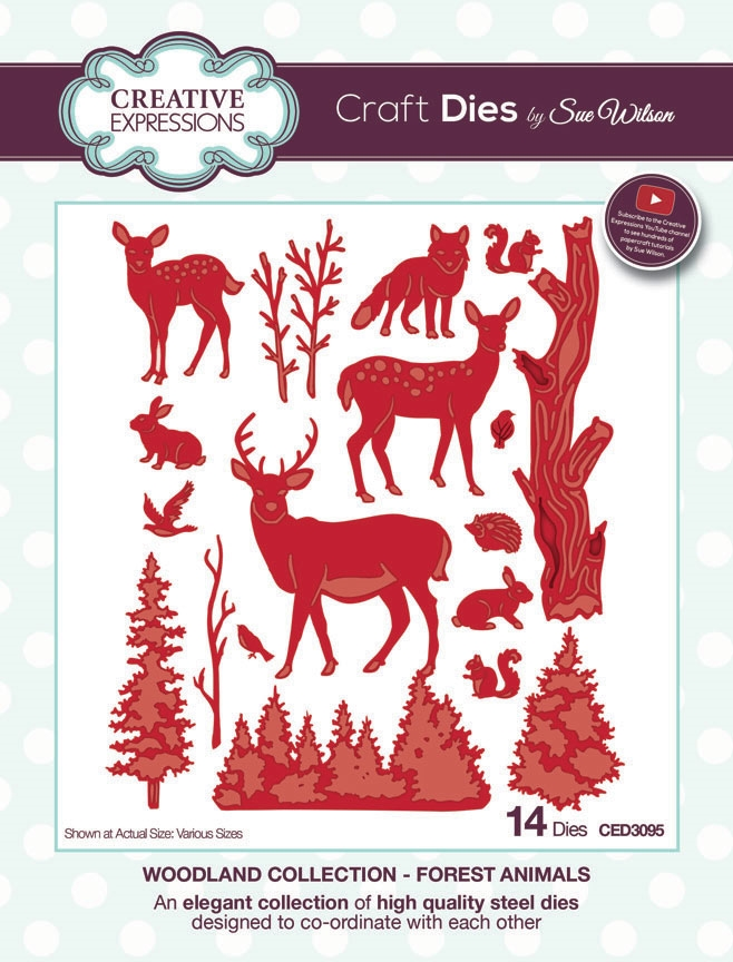 Creative Expressions FOREST ANIMALS Sue Wilson Woodland Collection Die Set CED3095 zoom image