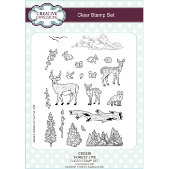 Creative Expressions FOREST LIFE Clear Stamps CEC838