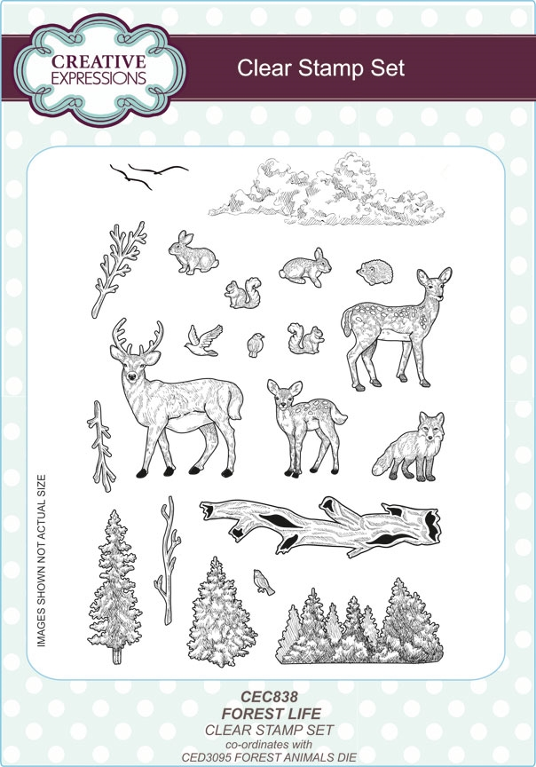 Creative Expressions FOREST LIFE Clear Stamps CEC838 zoom image