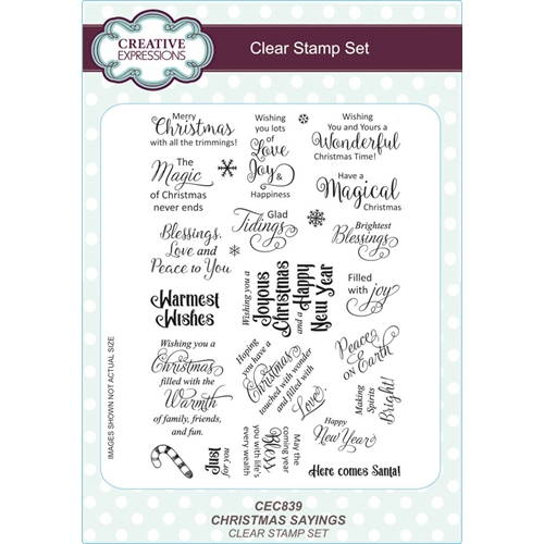 Creative Expressions CHRISTMAS SAYINGS Clear Stamps CEC839 Preview Image