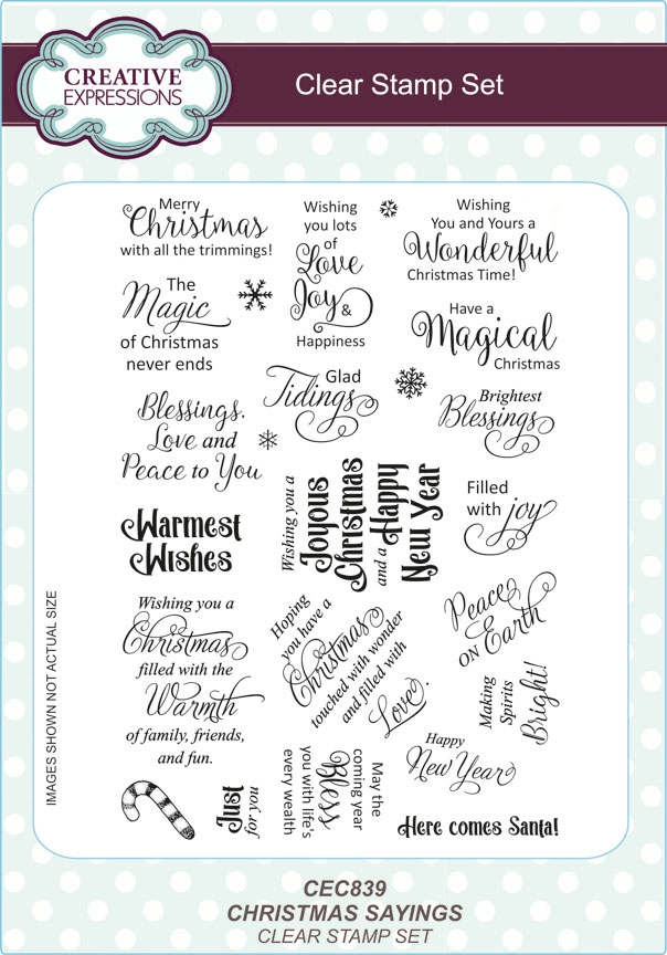 Creative Expressions CHRISTMAS SAYINGS Clear Stamps CEC839 zoom image
