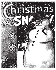 Tim Holtz Rubber Stamp THE SNOWMAN P1-1189 Christmas Stampers Anonymous