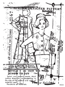 Tim Holtz Rubber Stamp VOGUE COLLAGE P4-1299 Preview Image