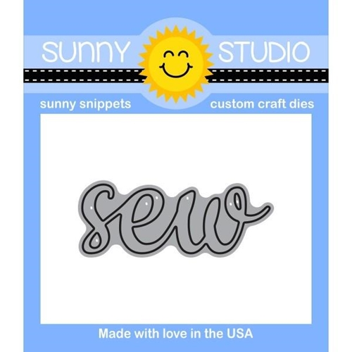 Sunny Studio SEW WORD Snippets Die SunnySS-806 Preview Image