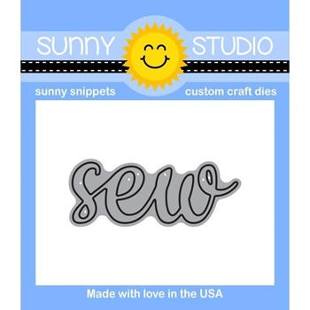 Sunny Studio SEW WORD Snippets Die SunnySS-806