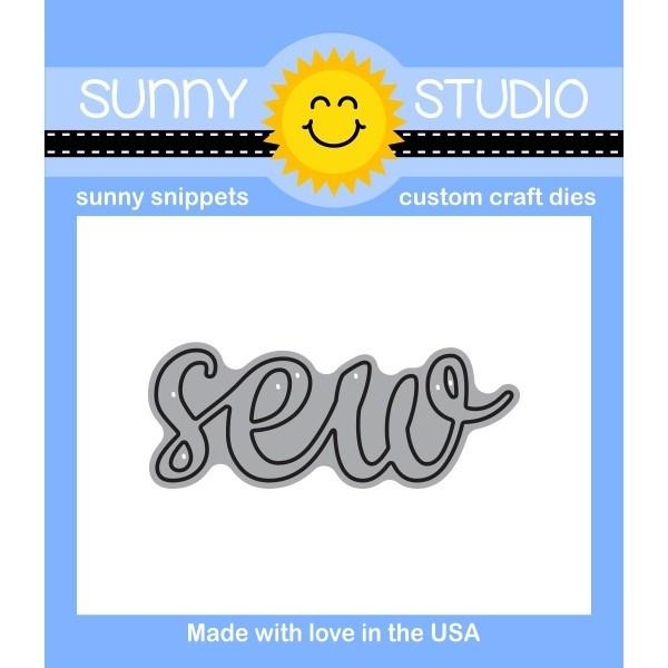 Sunny Studio SEW WORD Snippets Die SunnySS-806 zoom image