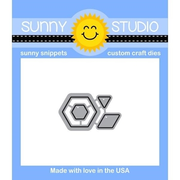 Sunny Studio QUILTED HEXAGONS Snippets Die SunnySS 067